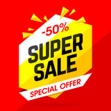 Super Sale special offer banner Stock Image