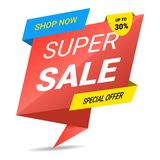 Super Sale, special offer banner, up to 30 off. Vector illustration. vector illustration
