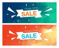 Super Sale Special Offer banner on yellow background Stock Image