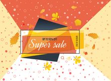 Super Sale, special offer. Big sale special up to 50 . Super Sale, season special offer. Big sale special up to 50 off. Colorful realistic sticker, banner for Royalty Free Stock Photo