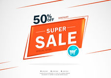 Super Sale and special offer. 80% off. Vector illustration.Theme color. Royalty Free Stock Image