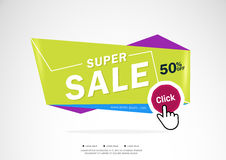 Super Sale and special offer. 80% off. Vector illustration.Theme color. Sale design template vector,Sale design template vector Stock Images