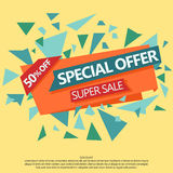 Super Sale special offer paper banner Stock Photos