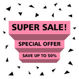 SUPER SALE SPECIAL OFFER SAVE UP TO 50 PERCENT Royalty Free Stock Image