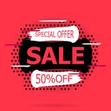 Super Sale and special offer. stock illustration