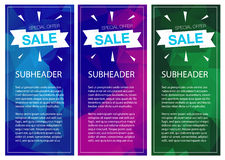 Super Sale Special Offer vertical banners Royalty Free Stock Image