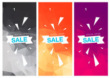 Super Sale Special Offer vertical banners Stock Images