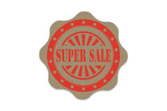 Super sale  stamp  on paper Stock Photos