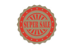 Super sale  stamp  on paper Stock Photo