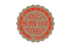 Super sale stamp on paper Royalty Free Stock Image