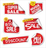 Super sale stickers and tags modern red collection Royalty Free Stock Photos