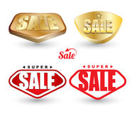 Super SALE tag set. Stock Photo