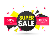 Super Sale Tag, Sticker, Label or Ribbon. Royalty Free Stock Photos