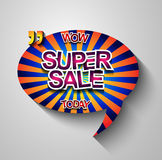 Super Sale Today background for your promotional posters Royalty Free Stock Images