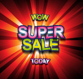 Super Sale Today background for your promotional posters Stock Photos