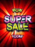 Super Sale Today background for your promotional posters Royalty Free Stock Photography