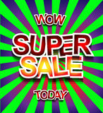 Super Sale Today background for your promotional posters Royalty Free Stock Photo