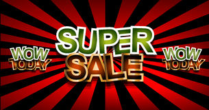 Super Sale Today background for your promotional posters Stock Images