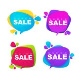 Super sale, vector collection of bright discount bubble tags, ba Royalty Free Stock Photos
