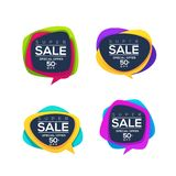 Super Sale, vector collection of bright discount bubble tags, ba Royalty Free Stock Image