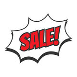 Super Sale. Vector illustration in flat style Royalty Free Stock Images