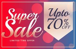Super sale vibrant brochure design template in vector Royalty Free Stock Photos