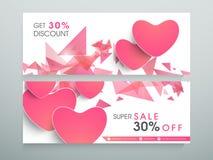 Super sale website header or banner. Stock Photo