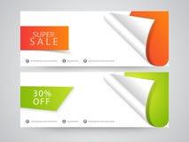 Super Sale website header or banner set. Stock Image