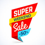 Super Sale Weekend special offer banne Royalty Free Stock Image