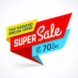 Super Sale, this weekend special offer banner Stock Photography