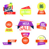 Super Sale, this weekend special offer banner . Vector Royalty Free Stock Photos