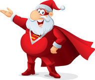 Super Santa - Vector Cartoon Stock Photography