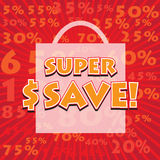 SUPER SAVE! wording Stock Image