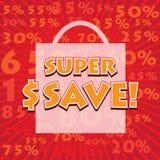 SUPER SAVE! wording Stock Image