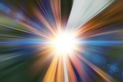 Super schnelle schnelle Bewegungsunschärfe der Beschleunigung der Zusammenfassung des hellen Strahls für Hintergrunddesign lizenzfreie stockbilder