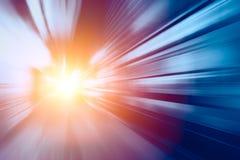 Super schnelle schnelle Bewegungsunschärfe Hochgeschwindigkeitsgeschäftstechnologielösung Beschleunigung stockbilder