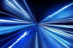 Super schnelle Lichtstrahlen Stockfotos