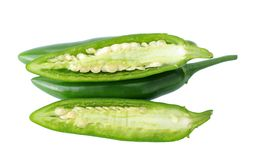 Super serrano peppers Stock Image