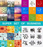 Super set of business. Infographics. Vector illustration. Fully editable vector file Stock Photography