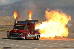 Super Shockwave twin Jet Engine Truck. Royalty Free Stock Images
