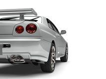 Super silberne städtische Sportautodach-Rückseitenansicht schnitt Schuss stock abbildung