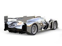 Super silbernes Rennmotor- Endstückansicht vektor abbildung