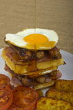 Super size Waffle Stack Breakfast Royalty Free Stock Photos
