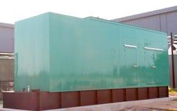 Super-Sized Green Heavy Duty Generator Stock Photography