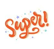 super Skriftlig bokstäver för hand stock illustrationer
