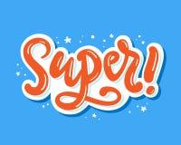 super Skriftlig bokstäveraffisch för hand vektor illustrationer
