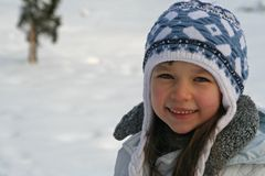 Super smile. Smile on the snow Royalty Free Stock Photo