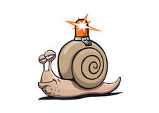 Super-snail with beacon Stock Photography