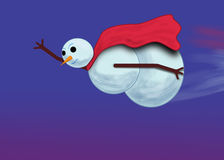 Super Snowman Royalty Free Stock Photo