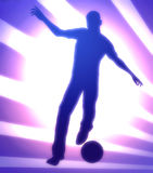 Super soccer star illustration Stock Photos
